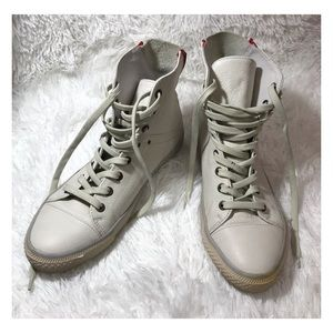 Steve Madden Lucahh White Leather Sneakers RETRO